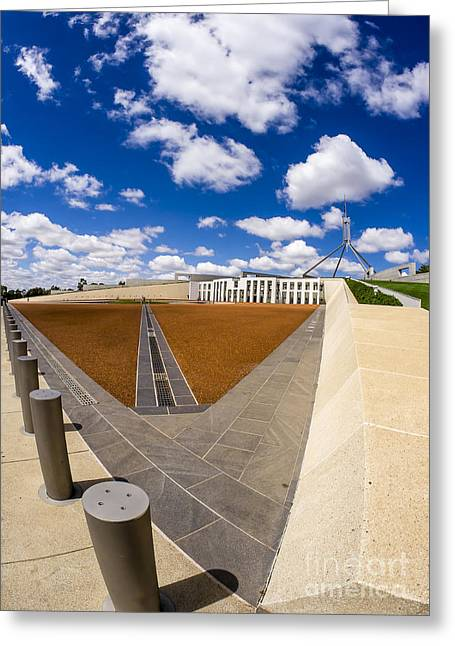 Forecourt Greeting Cards - Parliament House Australia Greeting Card by Steven Ralser
