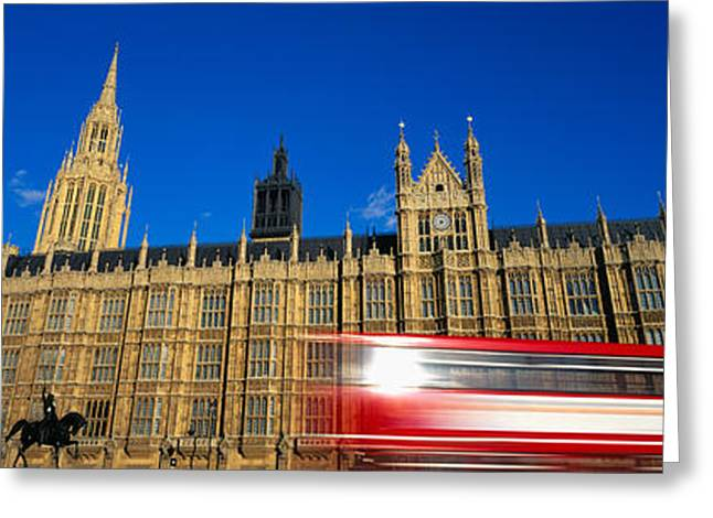 Palace Of Westminster Greeting Cards - Parliament, London, England, United Greeting Card by Panoramic Images