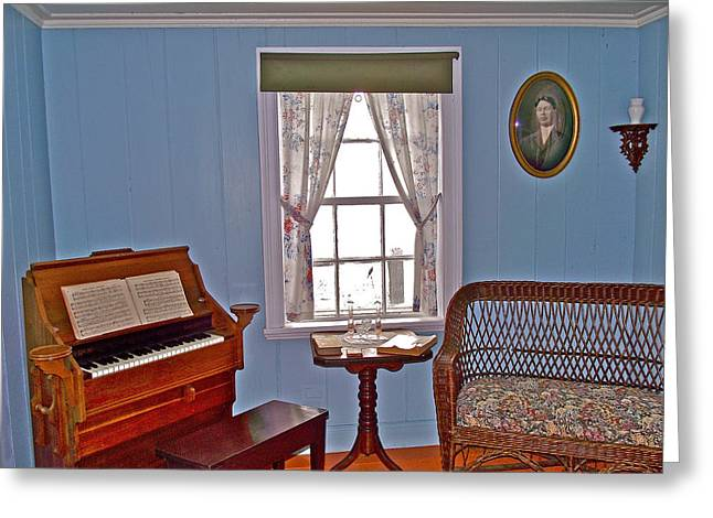 Qc Greeting Cards - Parlor of Fishermans Home in LAnse Blanchette in Forillon NP-QC Greeting Card by Ruth Hager