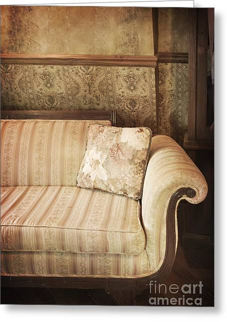 Interior Still Life Greeting Cards - Parlor Seat Greeting Card by Margie Hurwich