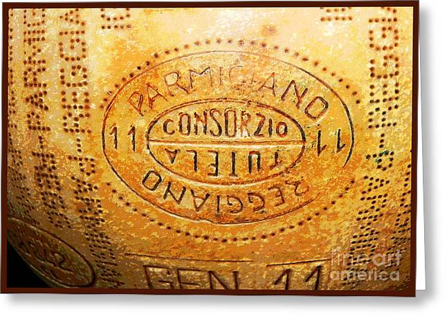 Italian Meal Digital Greeting Cards - Parmigiano Greeting Card by Lauren Brading