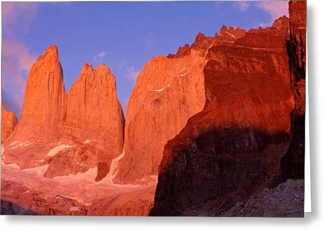 Reserve Greeting Cards - Parque National Torres Del Paine Greeting Card by Panoramic Images