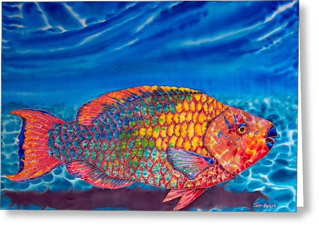 Tropical Fish Greeting Cards - Parrot Fish Greeting Card by Daniel Jean-Baptiste