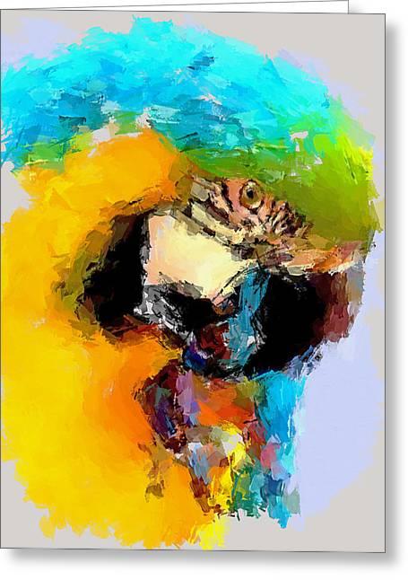 Enjoy Digital Art Greeting Cards - Parrot thinking... Greeting Card by Yury Malkov