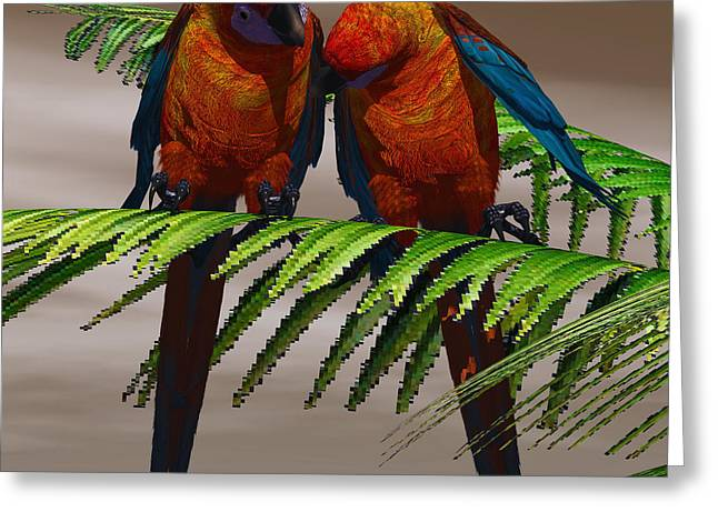 Bipedal Greeting Cards - Parrot Tree Greeting Card by Corey Ford