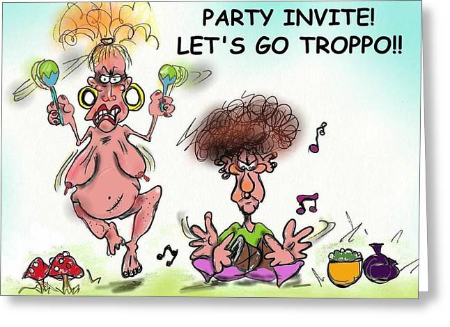 Party Invite Greeting Cards - Parrrrrttyyy Greeting Card by Michael Monroe