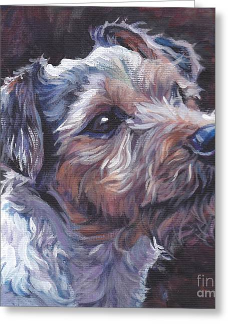 Jack Russell Terrier Greeting Cards - Parson Russell Terrier Greeting Card by Lee Ann Shepard