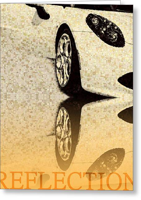 Driving Mixed Media Greeting Cards - Part of Car  Greeting Card by Toppart Sweden