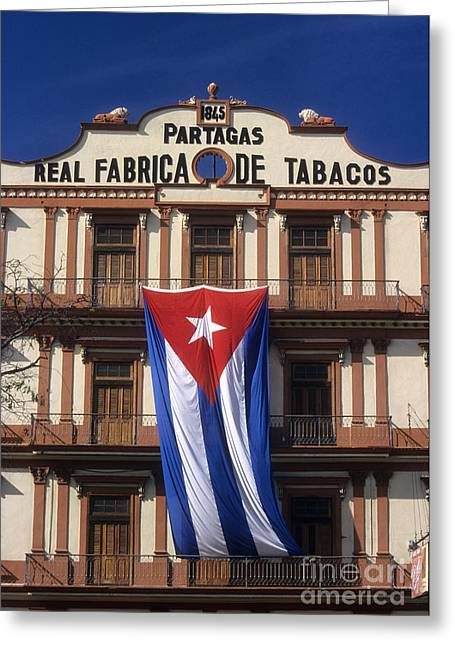 Habana Greeting Cards - Partagas Cigar Factory Greeting Card by James Brunker