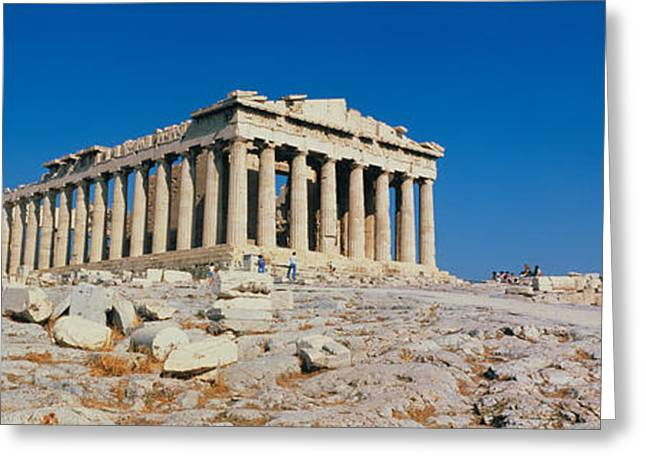 Classical Columns Greeting Cards - Parthenon Athens Greece Greeting Card by Panoramic Images