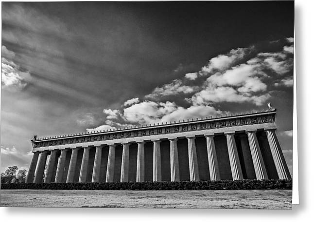 40mm Greeting Cards - Parthenon Greeting Card by CJ Schmit