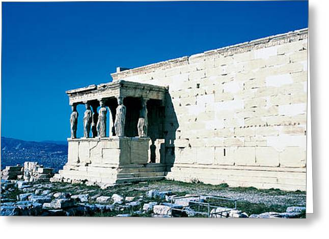 Greek Sculpture Greeting Cards - Parthenon Complex Athens Greece Greeting Card by Panoramic Images