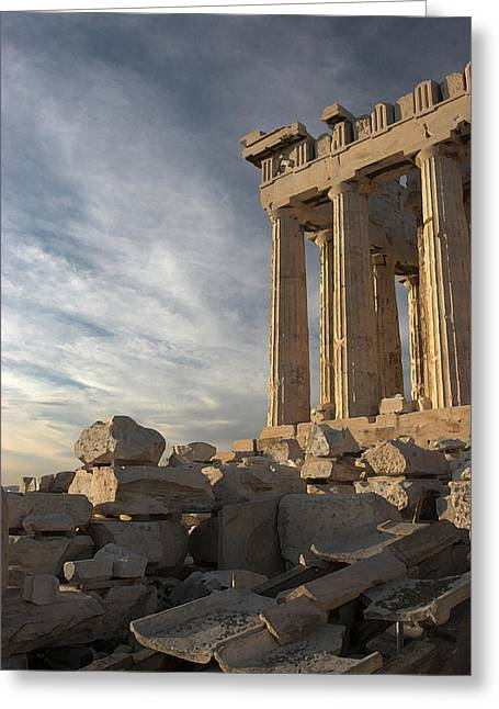 Greek Ruins Greeting Cards - Parthenon from the South Greeting Card by Ellen Henneke