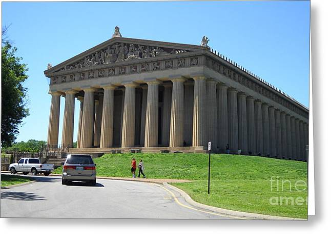Historic Franklin Tennessee Greeting Cards - Parthenon in Nashville Greeting Card by Paula Talbert