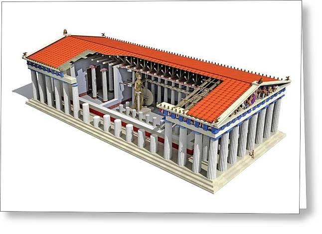 Parthenon Greeting Card by Jose Antonio Pe�as