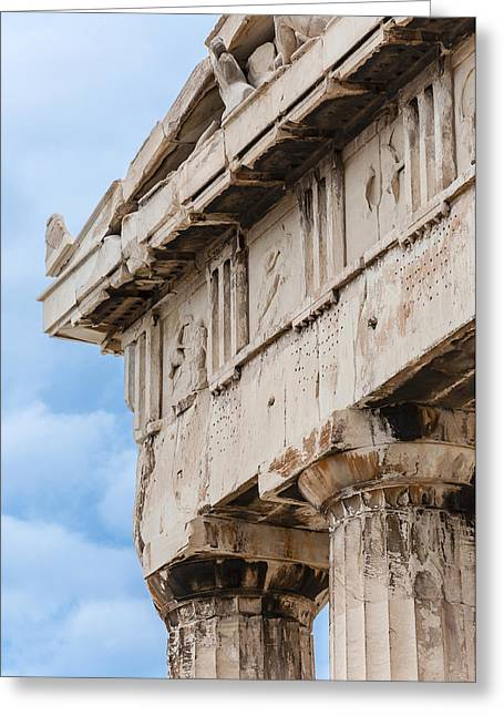 Greek Friezes Greeting Cards - Parthenon pediment Greeting Card by Yevgeni Kacnelson