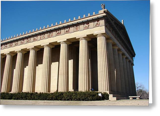 Tennessee Landmark Greeting Cards - Parthenon Replica Greeting Card by ML Boe