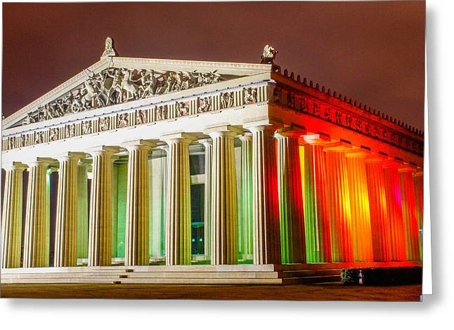 Nashville Tennessee Greeting Cards - The Parthenon Greeting Card by Robert Hebert