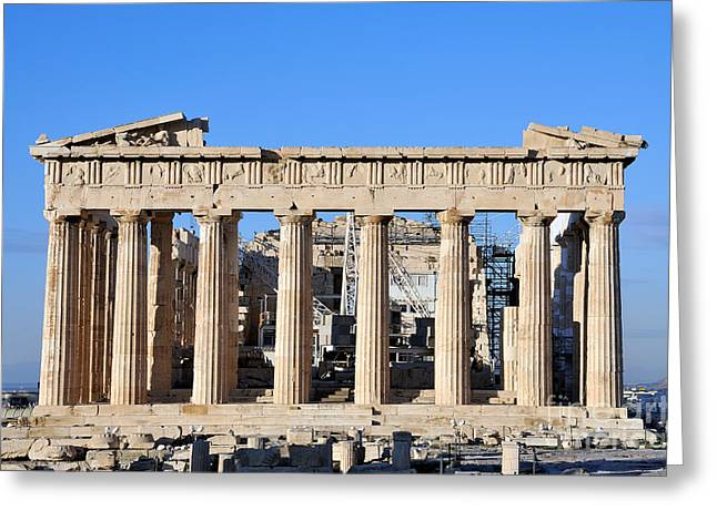 Europe Greeting Cards - Parthenon temple Greeting Card by George Atsametakis