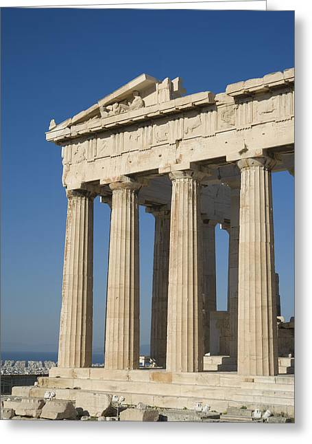 Temple Of Athena Greeting Cards - Parthenonathens Greece Greeting Card by Daniel Alexander