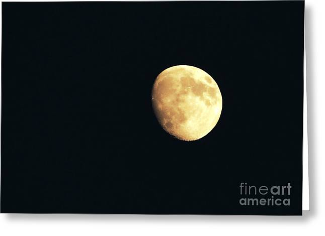 Component Greeting Cards - Partial moon Greeting Card by Claudia Mottram