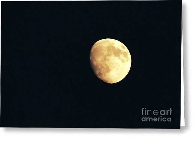 Partial moon Greeting Card by Claudia Mottram