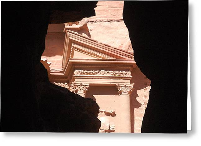 Petra Greeting Cards - Partial Petra Greeting Card by Kendell Timmers