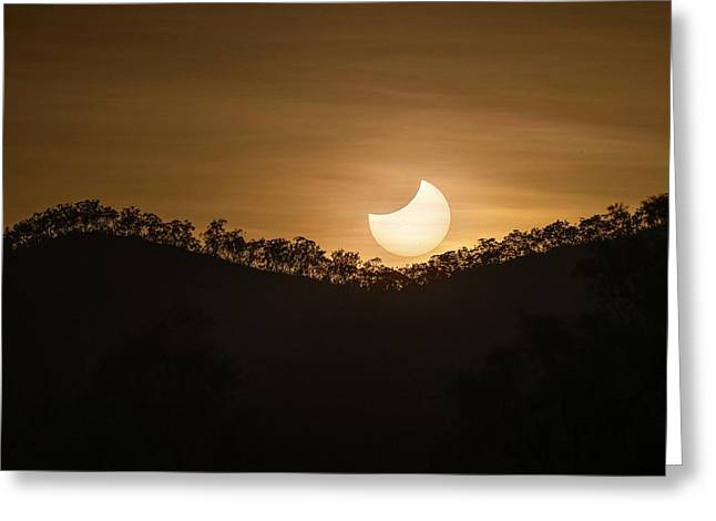Partial Solar Eclipse Greeting Card by Martin Rietze