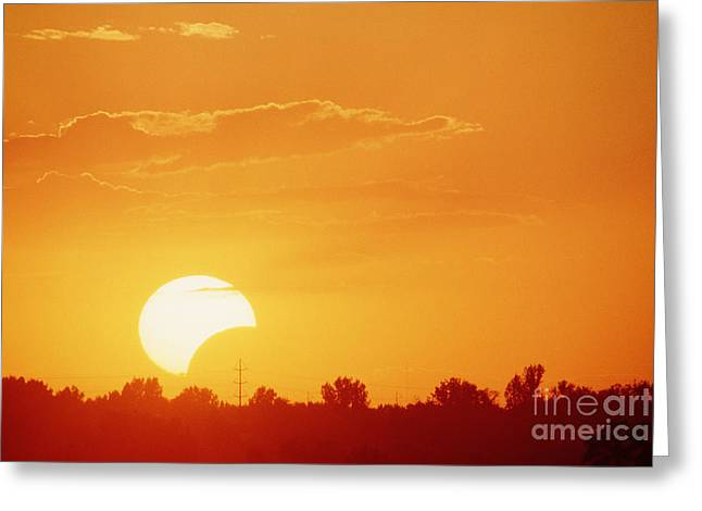 Solar Eclipse Greeting Cards - Partial Solar Eclipse Greeting Card by William H. Mullins