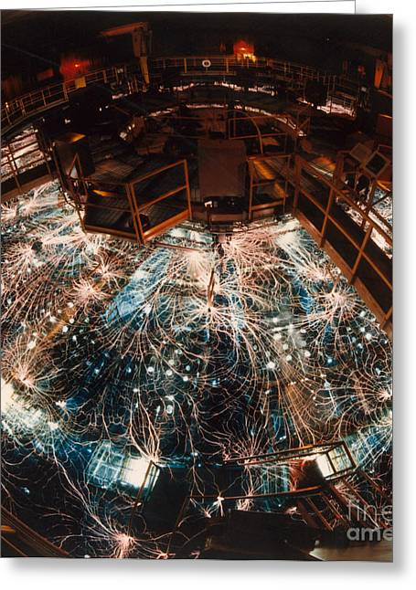 Particle Accelerator Greeting Card by Science Source