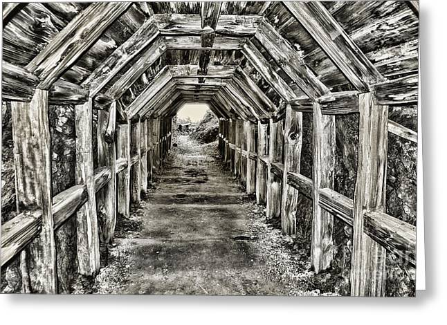 Pch Greeting Cards - Partington Cove Tunnel by Diana Sainz Greeting Card by Diana Sainz