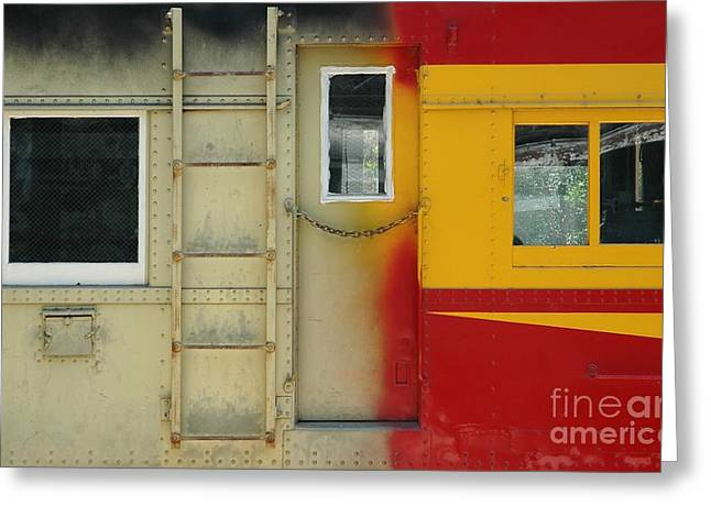 Train Car Greeting Cards - Partly Painted Greeting Card by Dan Holm