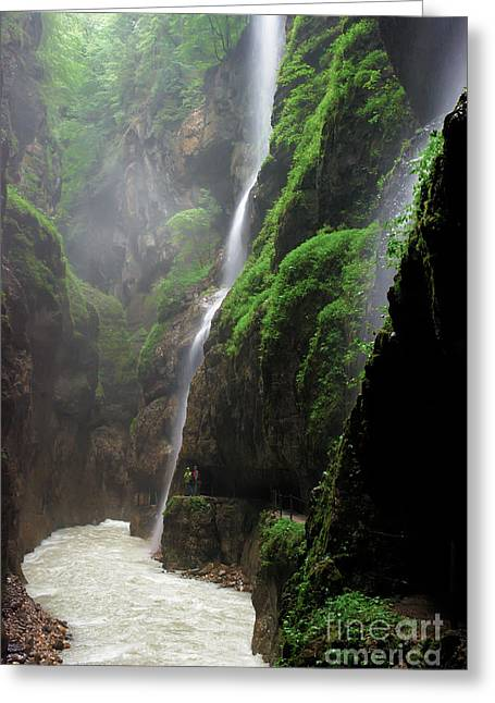 partnachklamm impression I Greeting Card by Hannes Cmarits