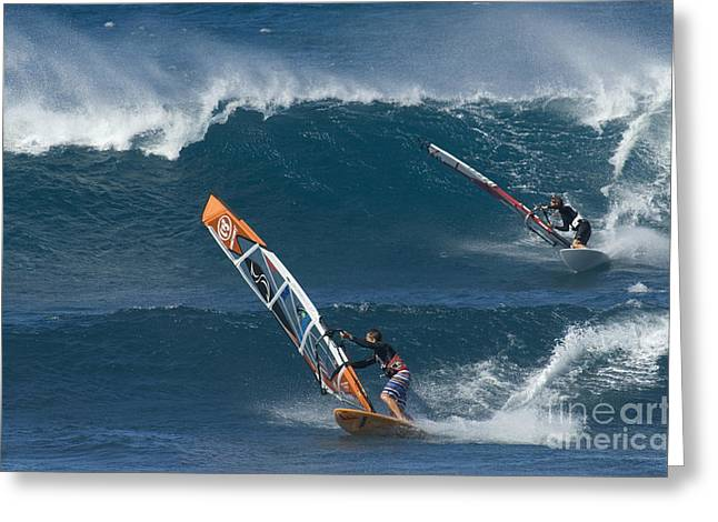 Surfing Photos Greeting Cards - Partners In The Extreme Greeting Card by Bob Christopher