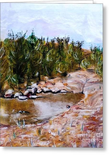 Creek Pastels Greeting Cards - Partridge Creek Greeting Card by Micki Davis
