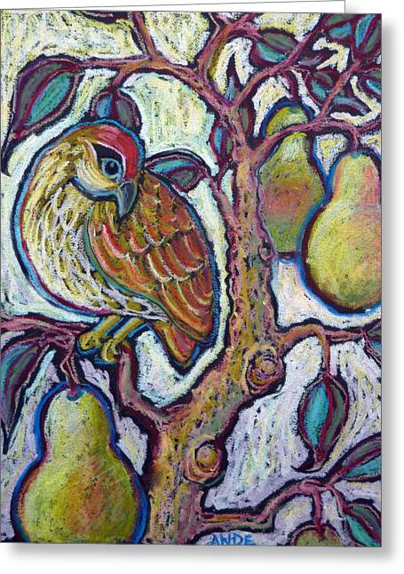 Partridge In A Pear Tree 1 Greeting Card by Ande Hall