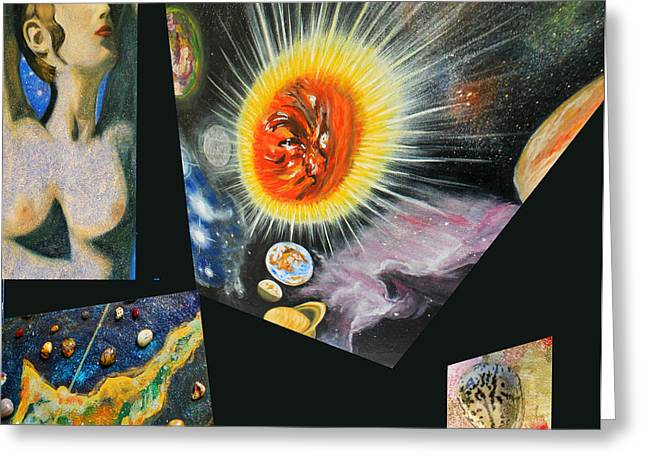 Planet Map Greeting Cards - Parts of Universe Greeting Card by Augusta Stylianou