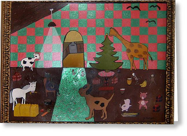 Party Animals  Greeting Card by Yvonne  Kroupa