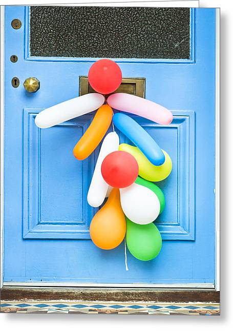Party Balloons Greeting Card by Tom Gowanlock