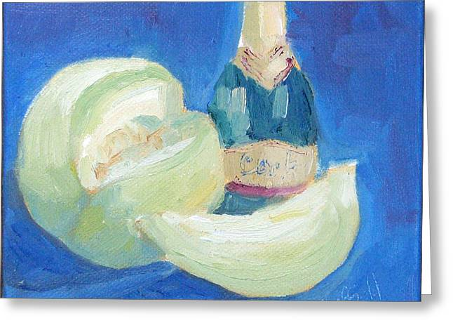 Fizz Paintings Greeting Cards - Party Fruit Fizz Greeting Card by Sarah Sheffield
