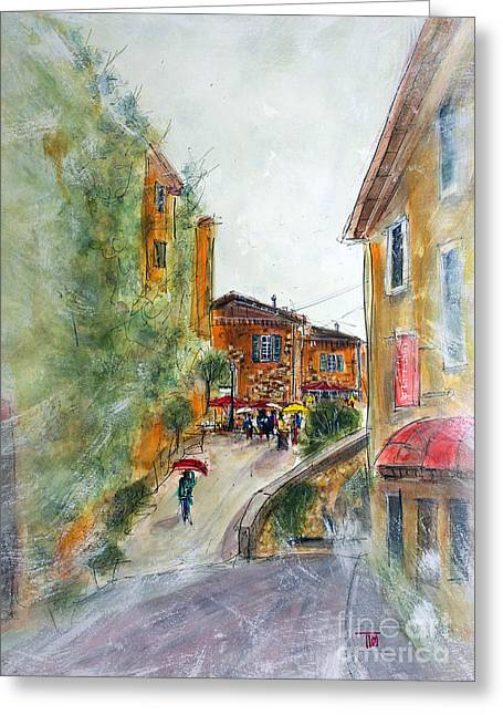 Tim Ross Greeting Cards - Party in Provence Greeting Card by Tim Ross