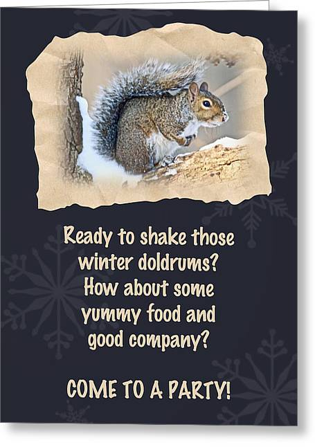 Sciurus Carolinensis Greeting Cards - Party Invitation - Eastern Gray Squirrel - Sciurus carolinensis Greeting Card by Mother Nature