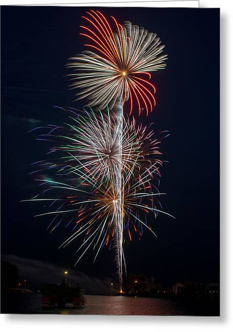 Rockets Red Glare Greeting Cards - Party Like Its 1776 Greeting Card by Bill Pevlor