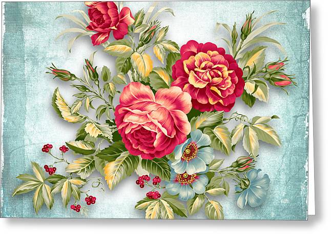 Emotive Greeting Cards - Party Of Flowers  Greeting Card by Mark Ashkenazi