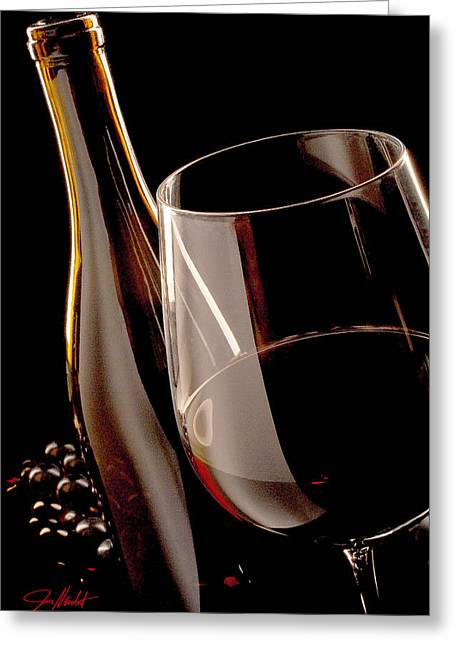 Merlot Greeting Cards - Party of One Greeting Card by Jon Neidert