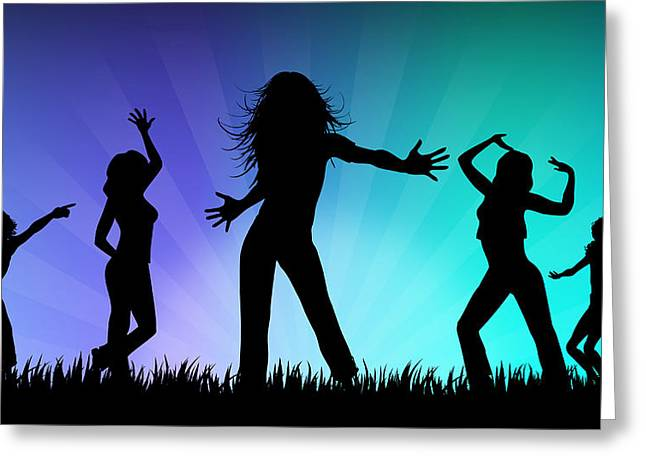 Party People Greeting Card by Aged Pixel