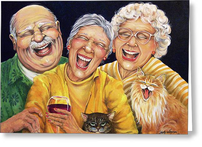 Party Pooper Greeting Card by Shelly Wilkerson