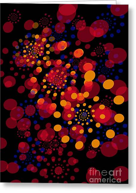 Customizable Greeting Cards - Party Time Abstract Painting Greeting Card by Claudia  Ellis
