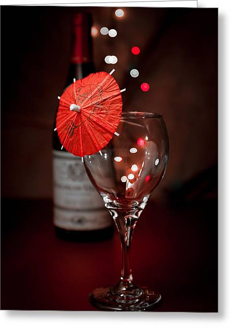 Bubbly Greeting Cards - Party Time Still Life Greeting Card by Tom Mc Nemar