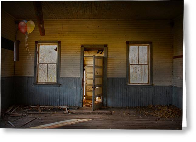 Abandoned House Greeting Cards - Partys Over  Greeting Card by Jerry Cordeiro